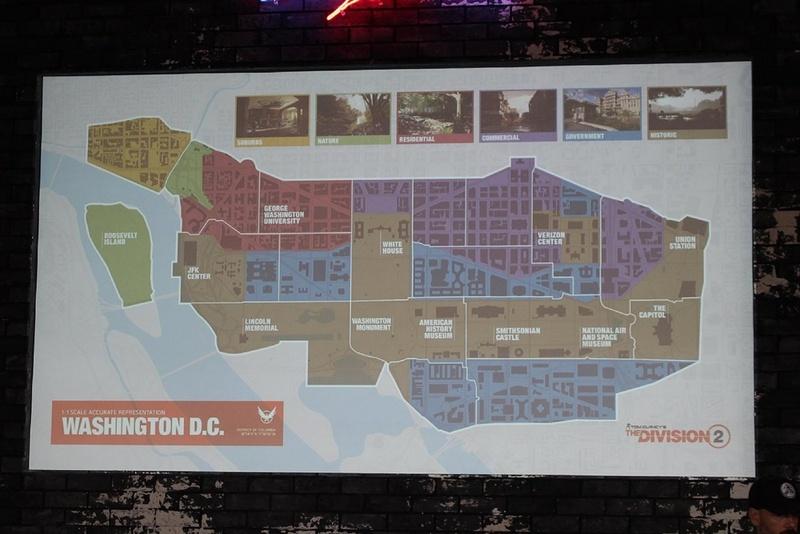 ワシントンD.C.の大まかなマップ。ギャリティ氏の解説通り、バラエティに富んだ地区が存在する