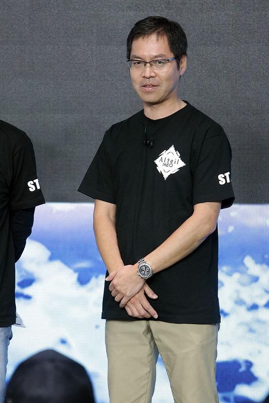 イベント最後に登場した、開発協力のソネットゲームスタジオ・永田博丈代表取締役社長。「『アルテイル』は難しい。その分やればやるほど深さを感じる」と挨拶