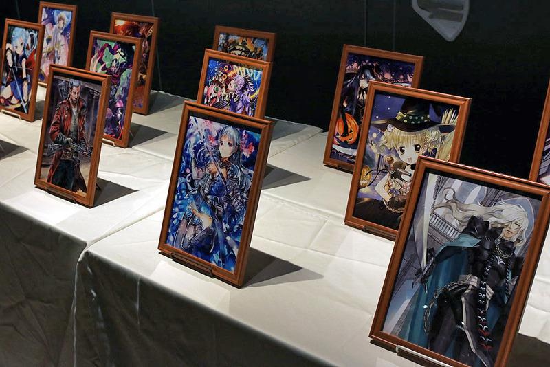 イベント会場には、年表をはじめ様々な展示物が飾られていた