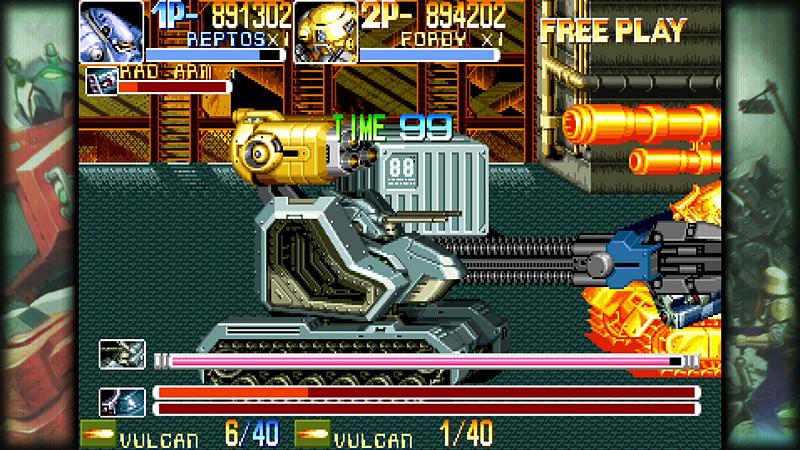 まるでボスのような存在感を放つ合体ロボ。爆撃の雨を降らせて敵を一掃。戦車タイプの合体ロボもたまらなくカッコいい