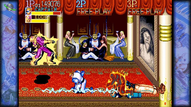 「MARVEL VS. CAPCOM」シリーズで有名になった「キャプテンコマンドー」。「バトルサーキット」と同じく4人協力プレイができるタイトル