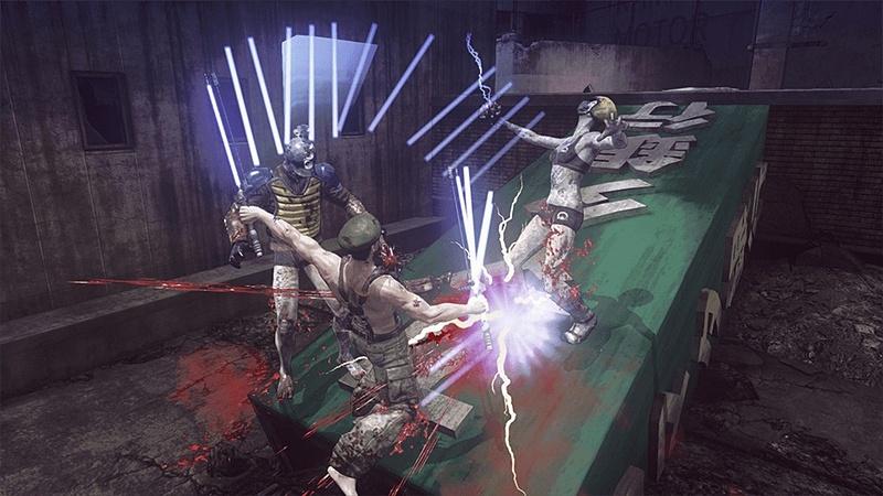 コラボ武器「ビーム・カタナ」を使った攻撃
