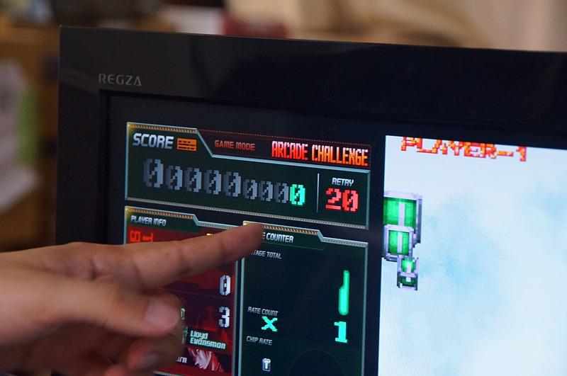 リトライ回数と10秒間生き残るまでの残り秒数がM2ガジェットに表示される