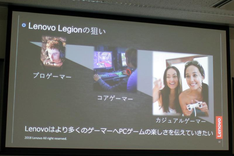 発表されたスライド。様々な年代の人たちがPCゲームを楽しんでいる。そういった人たちを満足させるゲーミングPCを追求し、モデルチェンジを行なったという