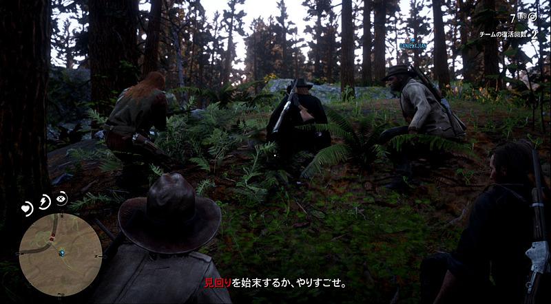 ステルスミッションだが、仲間がどう動くかわからない面白さがある。ストーリーミッションでは様々な新キャラクターが登場するほか、馬泥棒の双子など「RDR2」でのキャラクターも