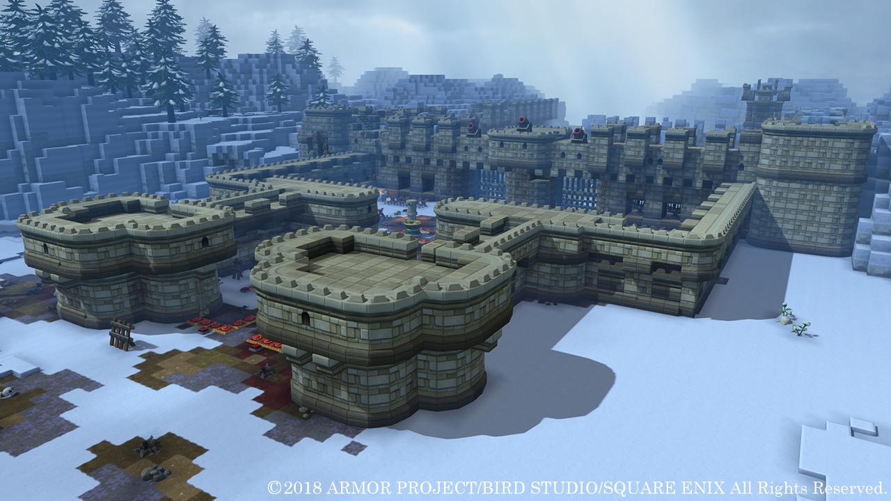巨大な建物も住人のちからを借りれば手早く完成する