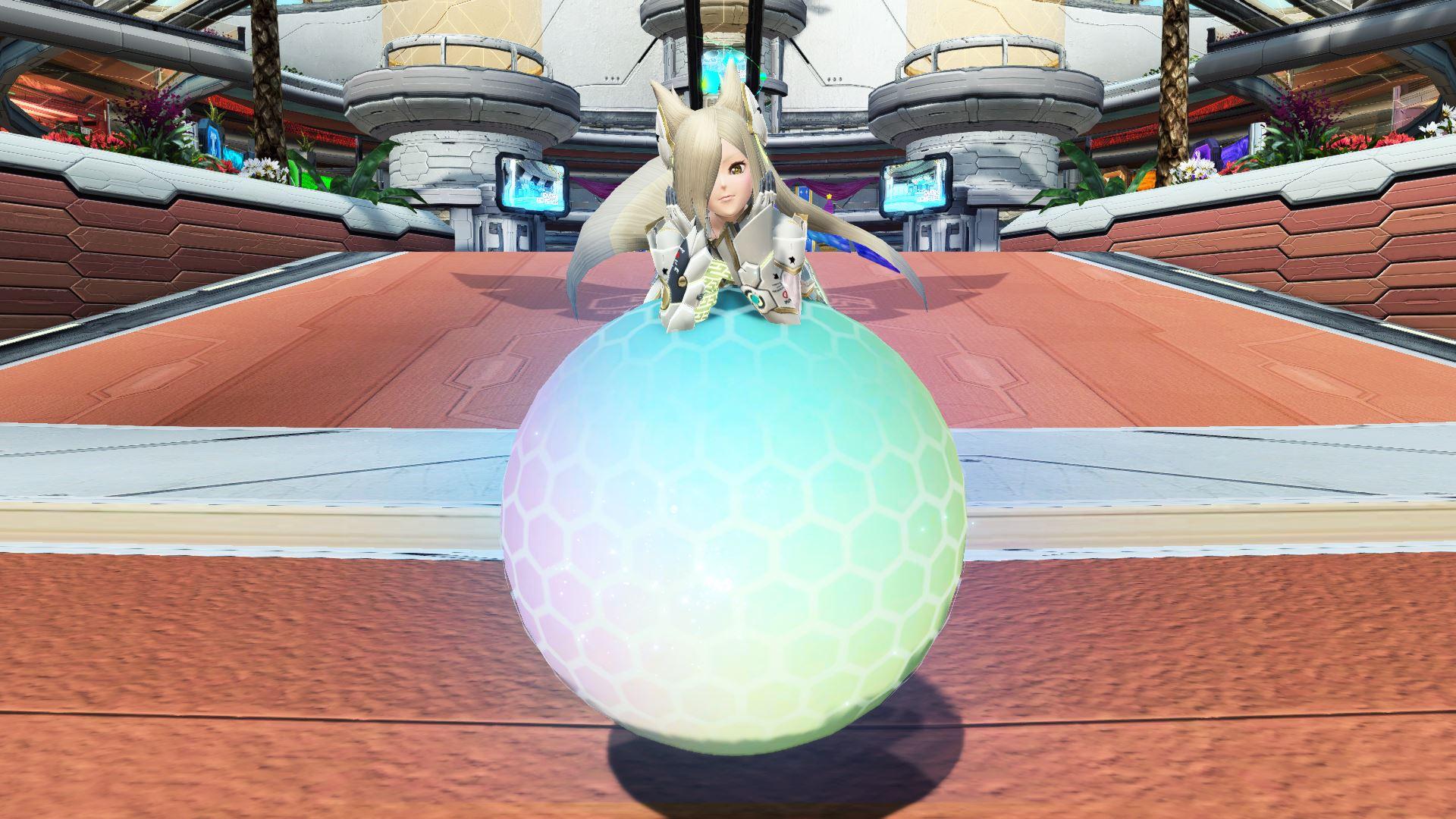 「アルマ」の特徴的な移動を再現したロビアク。男女でボールの乗り方が変わる