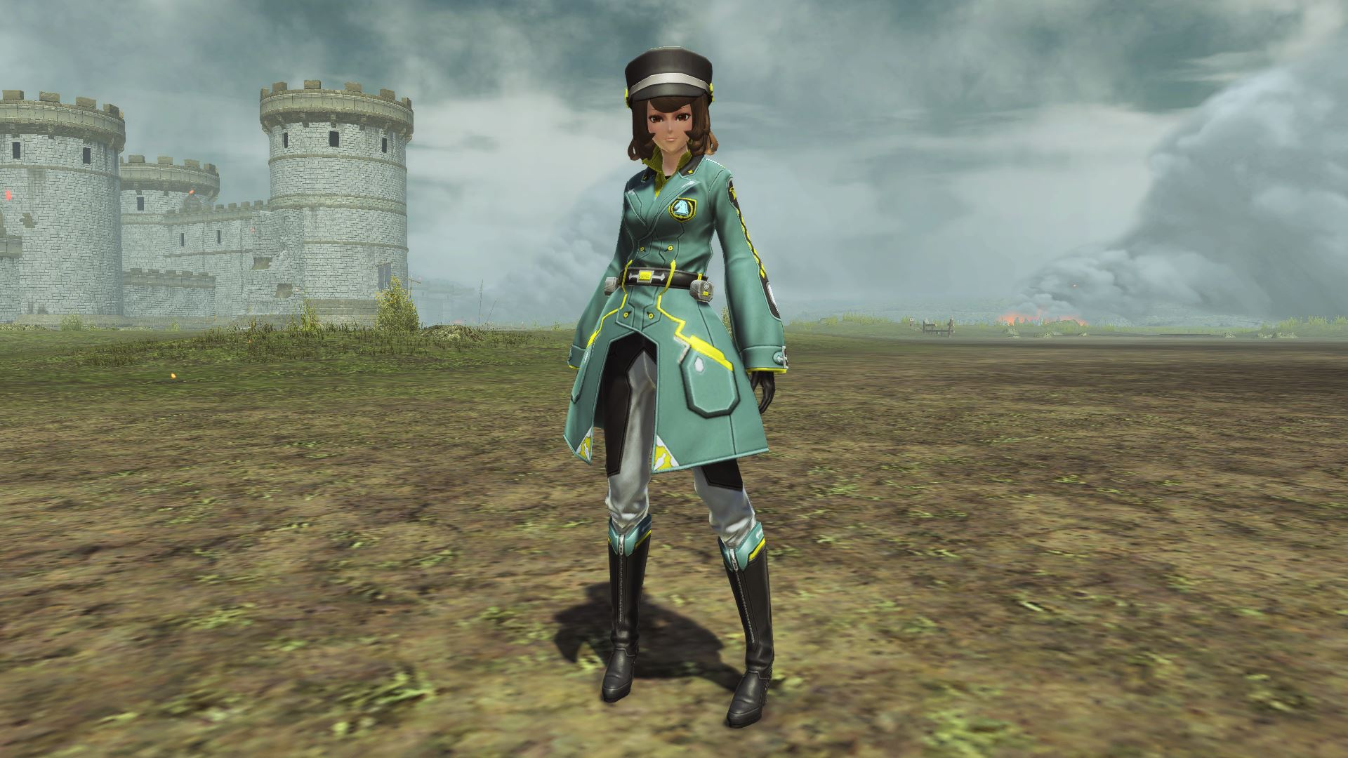 騎乗する時などに着用する服。伸縮性に富んでおり、しっかりした厚手の生地ながらも動きやすい