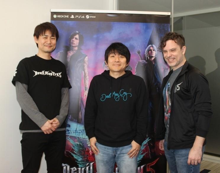 左からプロデューサーを務める岡部眞輝⽒、ディレクターの伊津野英昭⽒、プロデューサーのマシュー・ウォーカー⽒