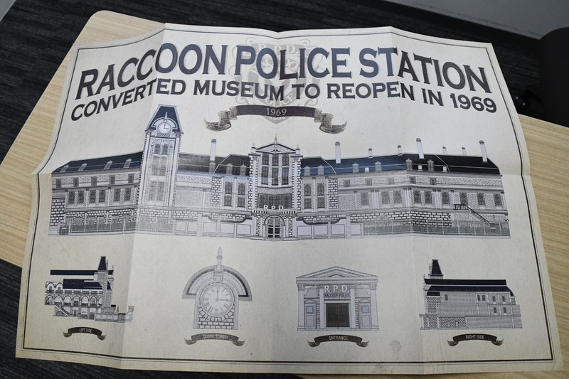 美術館から警察署へ改築する際の計画図。実際に「バイオ2」の世界にあったであろうアイテム