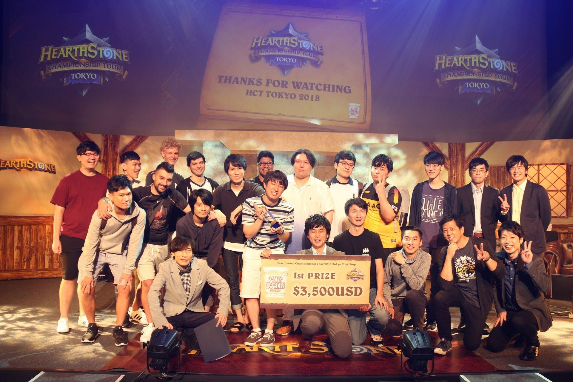 2018年7月に開催され、日本人のhinaya選手が優勝した「ハースストーン選手権ツアー 2018 Tokyo Tour Stop」