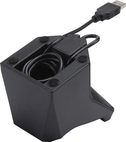 ケーブルはスタンド底面に収納可能。必要な長さだけを出してすっきりとまとめられる