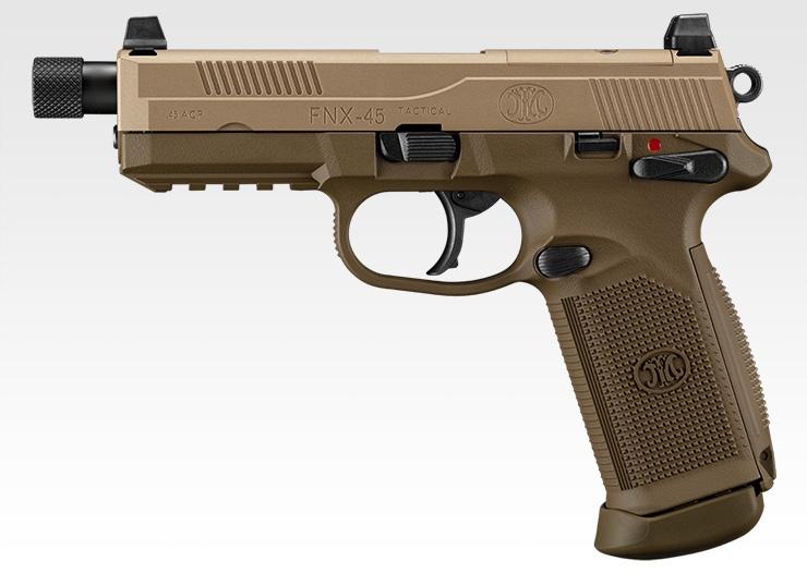 M9(ベレッタ 92)に代わるサイドアームを目指して開発された「FNX-45 タクティカル」を再現