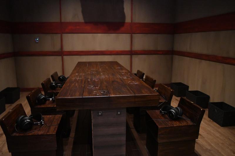 この部屋で閻魔大王の裁判が行なわれる