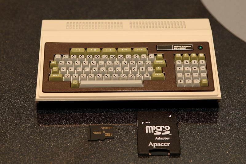 プレスレビュー用に用意された「PasocomMini PC-8001」
