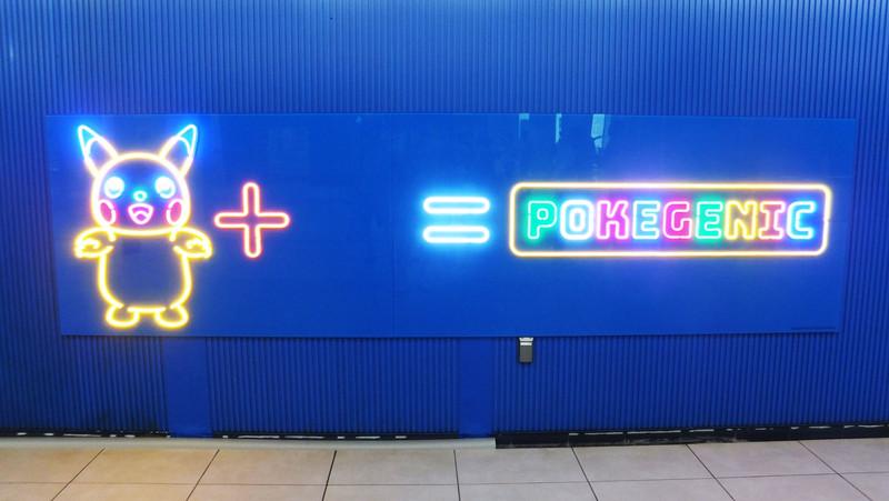 今年からの新しいフォトスポット「POKEGENIC」。撮影のための行列もできていた