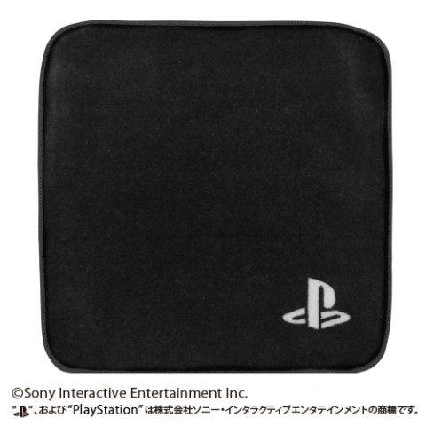 """""""PlayStation""""のロゴがデザインされた19×19cmのハンドタオル"""