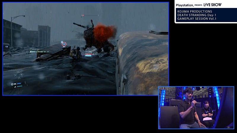 サムの血液が入ったグレネードで攻撃。倒せば地面のタールが消える。戦闘中は他のプレーヤーから物資を受け取るといった協力プレイを行なえる
