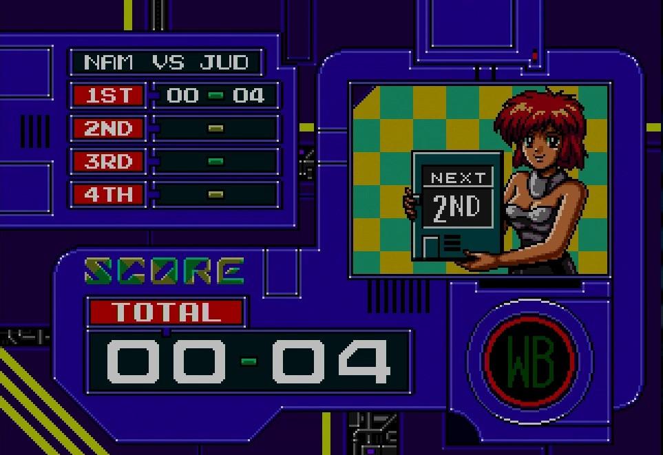 試合はデフォルトでは1クォーター15分の4クォーター制。奇数クォーターは自軍が画面下、偶数クォーターは自軍が画面上へと位置が逆転する
