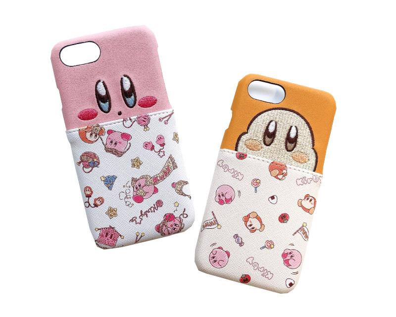 ポケット付きiPhoneケース 6/7/8(twinkle knit/sunny pupupu picnic)/各2,800円(税別)