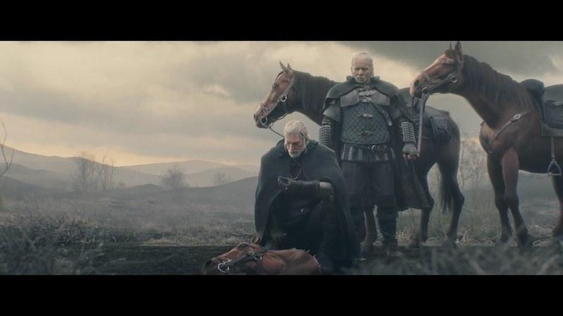 年長のウィッチャーである「ヴェセミル」とともに、イェネファーを追うゲラルト。顎鬚が似合う渋い漢だぜ……