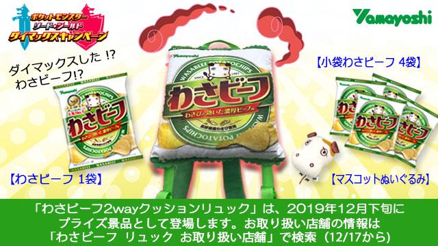 山芳製菓株式会社(わさビーフ):「わさビーフ2wayクッションリュック」×1名
