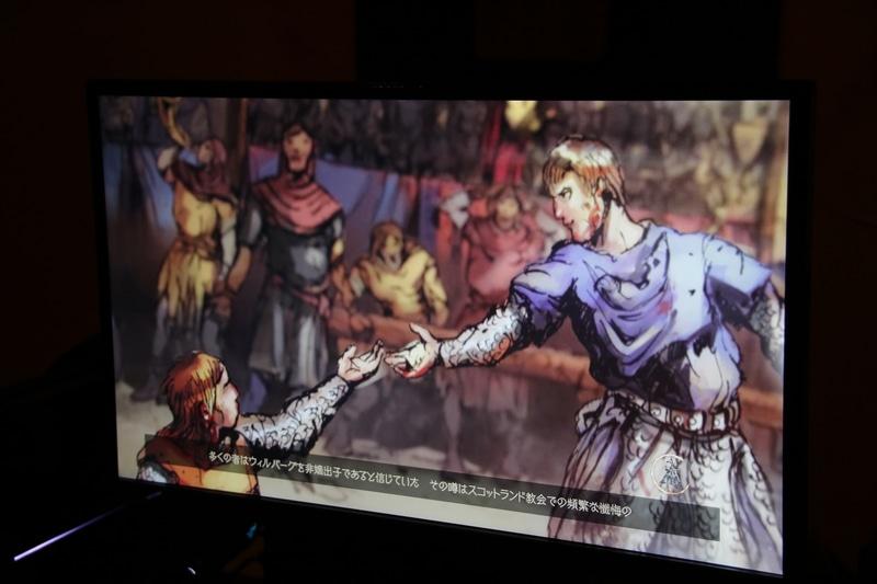 会場には日本語版の試遊台も展示。物語を引き立てる2Dアニメーションや、戦闘画面の美しい3Dグラフィックス、違和感ない日本語ローカライズが確認できた