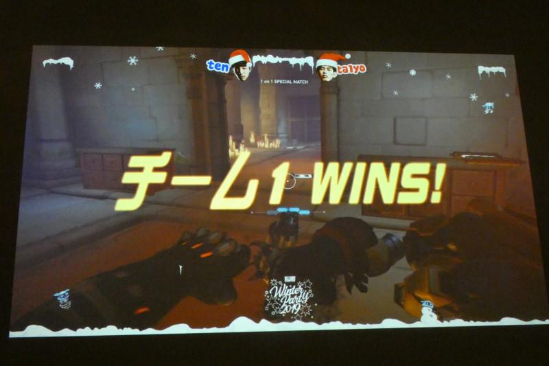 ドゥームフィストの肉弾戦による激闘の末、ten選手が勝利した