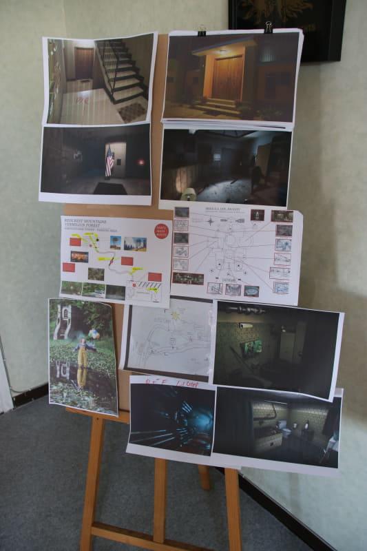 スタジオ内では貴重なコンセプトアートや機材の見学ができた