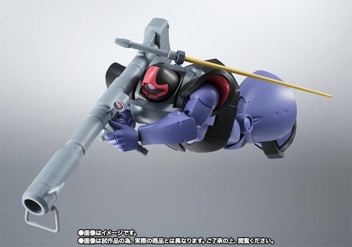 こちらは「ROBOT魂 <SIDE MS> MS-09R リック・ドム」。宇宙用に改修されたリック・ドムは、スカートと足のブースターの大出力で目標に接敵、一撃離脱先方を行なう。ポーズ付け、遊び方は全く違うのである!