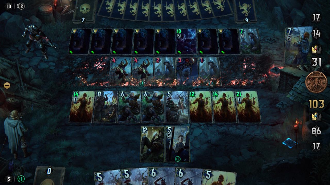 ウィッチャーの世界だけあって、怪物が多く出没してくる。ストーリーバトルと違い、これは「パズルバトル」なり、特別なルールと特定なカードで解けないといけない。出てくる頻度とペースもいいし、難易度がちょうどよい