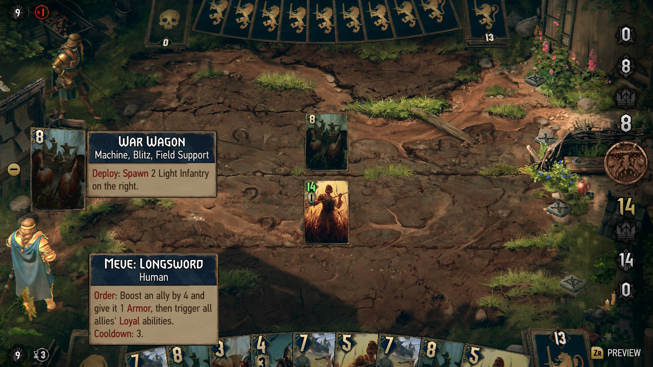 アクションRPGと違ってバトルはカードゲームとなる。ストーリーバトルは、自分が作って育ててそして調整できるデッキで挑戦する。ルールが簡単だが、細かいコツがあって奥深い