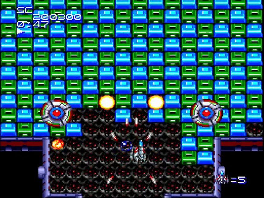 「2分ゲーム」と「5分ゲーム」は、時には死を恐れず、敵に密着して撃ち込むなどの方法で素早く倒すパターンを考えながらプレイしたり、隠しボーナスの獲得にチャレンジするなど、スコアアタックにフォーカスしたステージ構成になっている