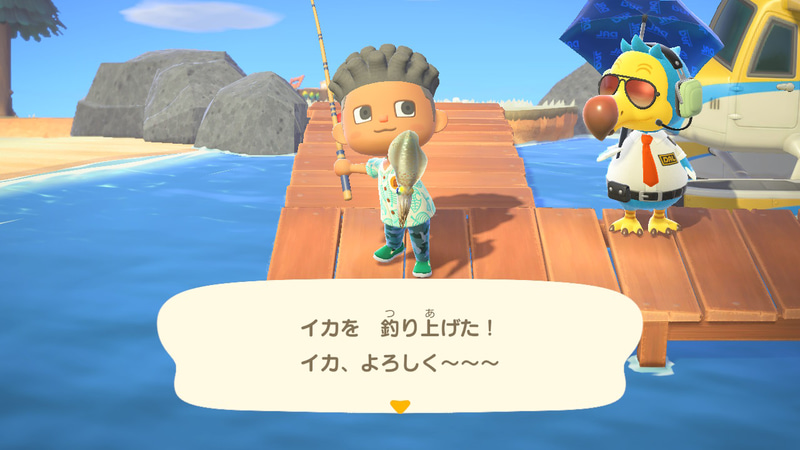 もちろん釣りやムシ取りも可能。映像がリッチになり、島の空気に透け感があるのがいい