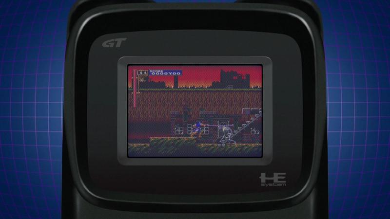 画面表示だけをPCエンジンGT風にする「GTモード」。ユニークなのは拡張バスを持たないため、CD-ROM2などが接続できなかったPCエンジンGT上でCD-ROM2のソフトがプレイできる事だ。一方で解像度がかなり低く、視認性もあまりよくないため、雰囲気を楽しむためのモードと考えるのがいいだろう