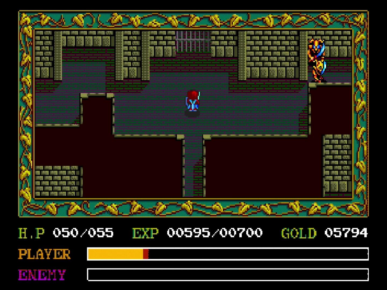 「イースI・II」の戦いの舞台は全体的に神殿や洞窟などが多い。「イースI」ではフィールドの移動も多いが、本当の序盤だけしか戦わない印象だ