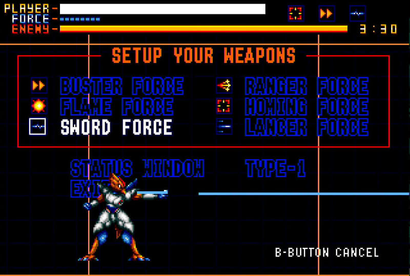 武器は6種類、これから4つを選んで戦う