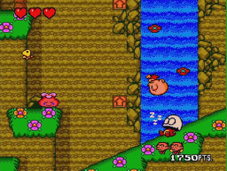 原人が活躍する横スクロールアクションゲーム「BONK'S REVENGE」。頭突きで敵を倒すのがユニークだ