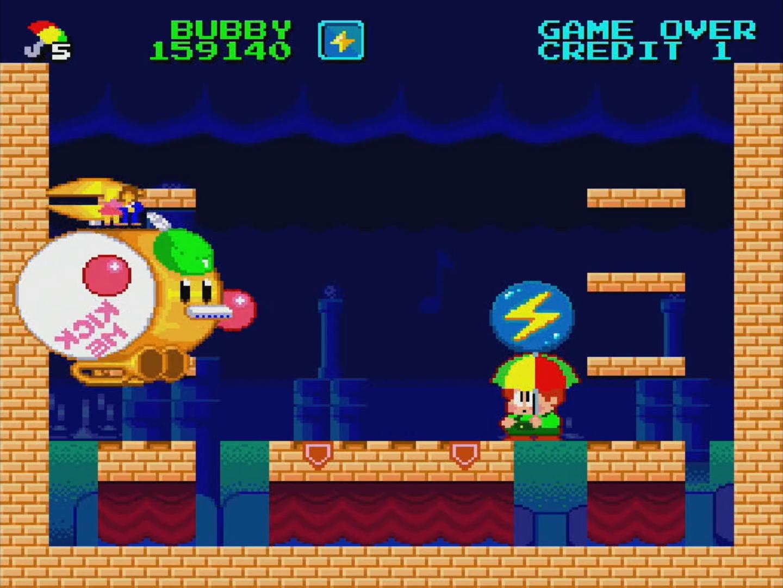 ワールドの最後には巨大なボスが登場。ジャンボボールを作ってボスにぶつけて倒す