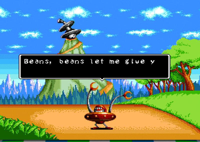 言語を英語にするとメニューがジェネシスに。「Dr. Robotnik's Mean Bean Machine」はぜひチェックして欲しいタイトルだ