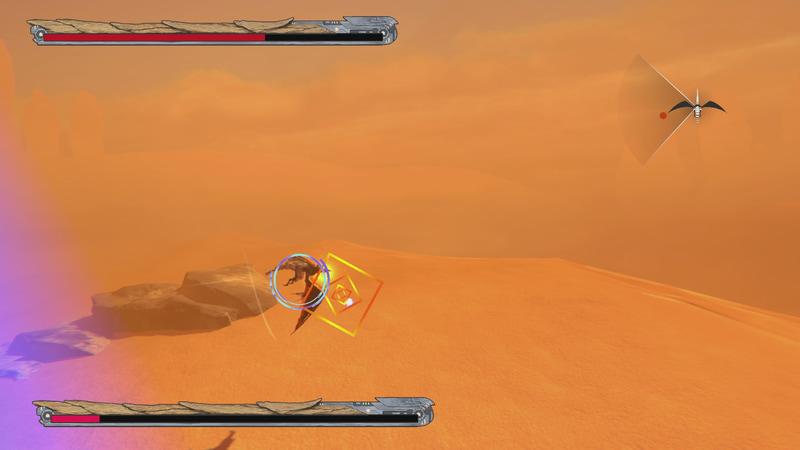 横を向いたときはドラゴンの操作ができない。敵弾は撃ち落とそう