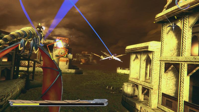 画面右上にはレーダーがあり、敵が表示されている。これを頼りに視点を変更して戦うのだ