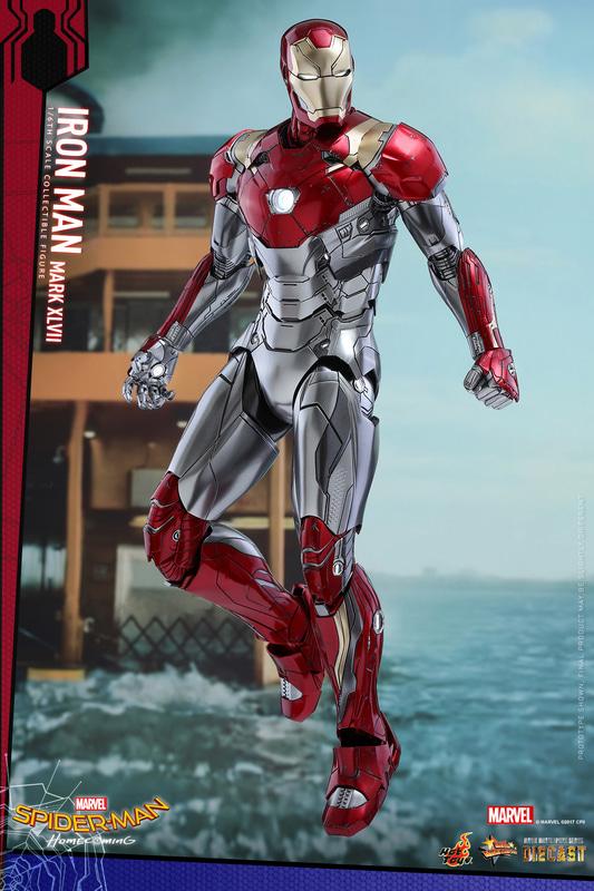 ホットトイズの「【ムービー・マスターピース DIECAST】1/6スケールフィギュア アイアンマン・マーク47」。価格は55,000円(税込)で、2021年1月に再販売予定