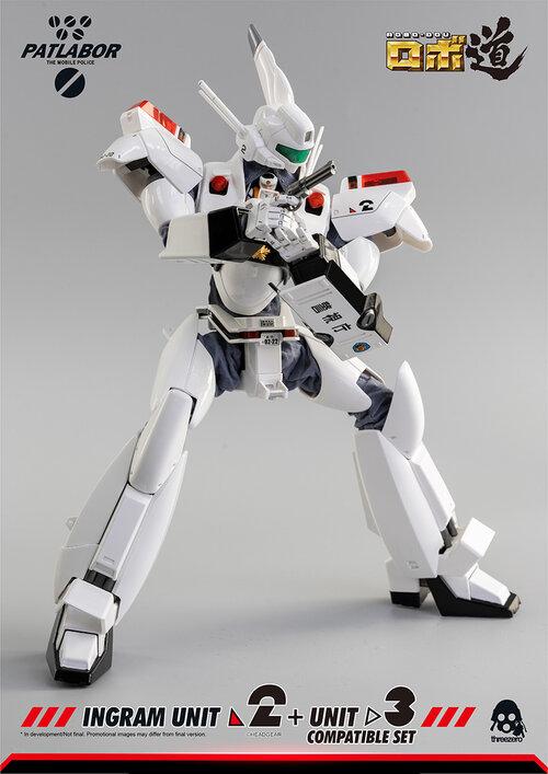 threezero、「ロボ道 機動警察パトレイバー イングラム2号機+3号機 コンパチブル・セット」。価格は16,000円(税別)で、9月発売予定