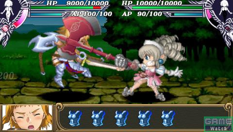 ステータス画面のイラスト変化のほかに、戦闘シーンでのSDキャラクターにも鎧破壊がきちんと反映されている