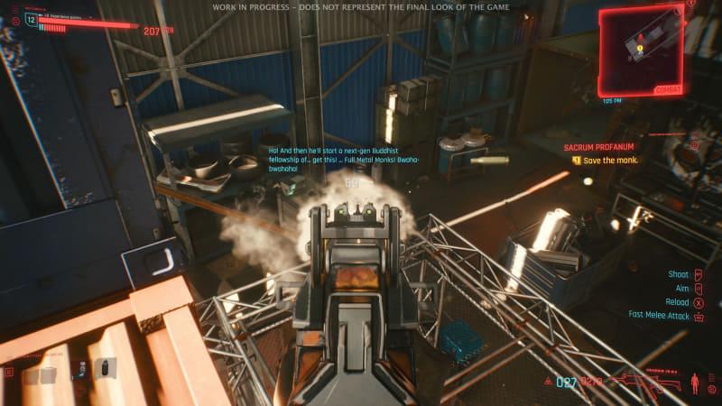 サイバーウェアを強化することで高い位置から不意がつけたり、近接武器の「マンティスブレード」等が使える