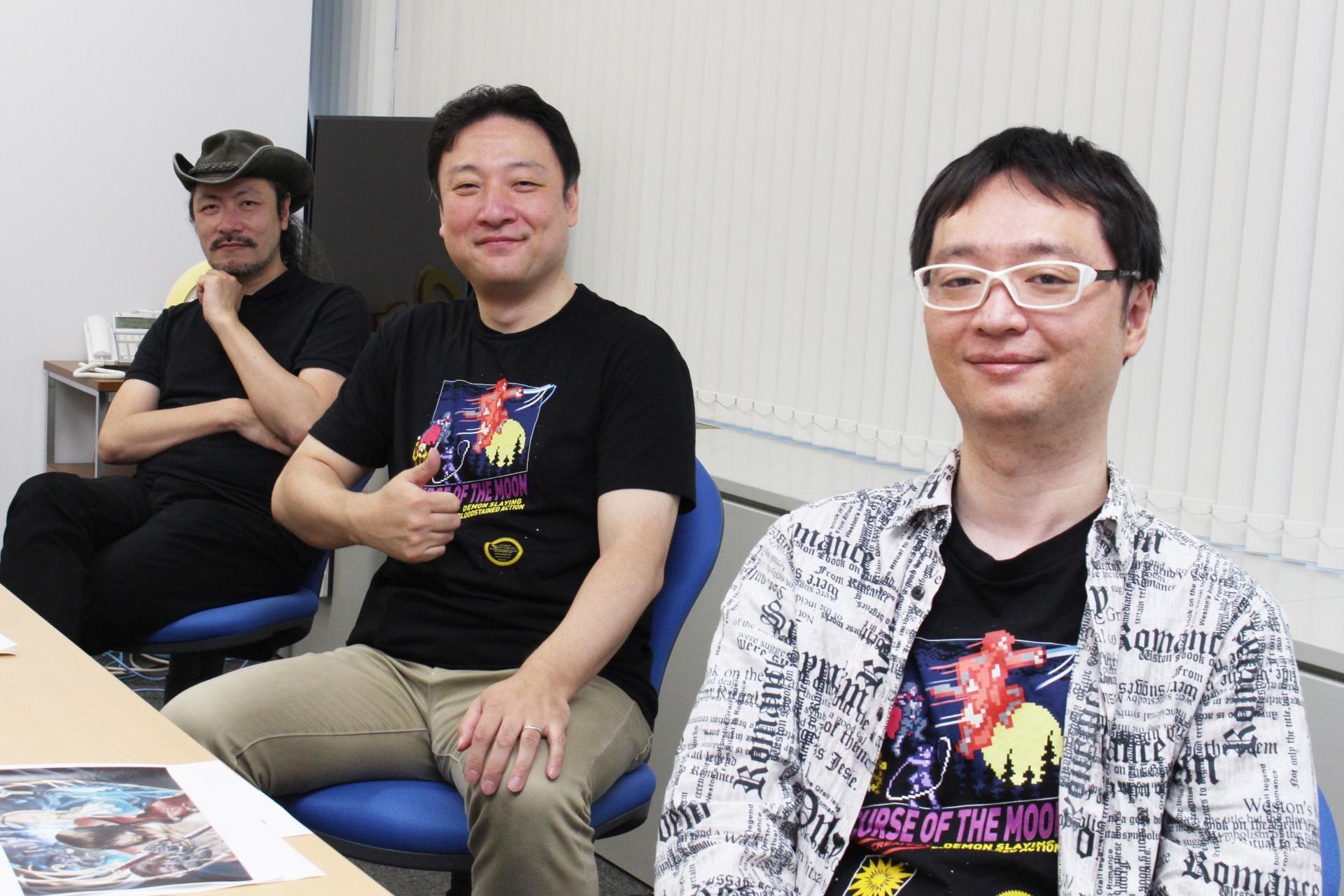 左からArtPlayの五十嵐孝司氏(プロデューサー)、インティ・クリエイツの會津卓也氏(プロデューサー)と宮澤拡希氏(ディレクター)