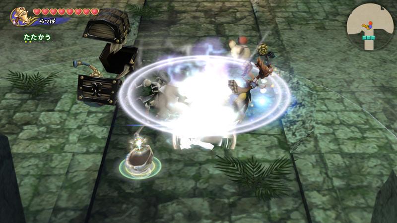 ハンマーを地面に叩きつけ、爆発を起こす。敵を気絶させる効果があるため、この隙に距離をとったり魔法を詠唱しよう