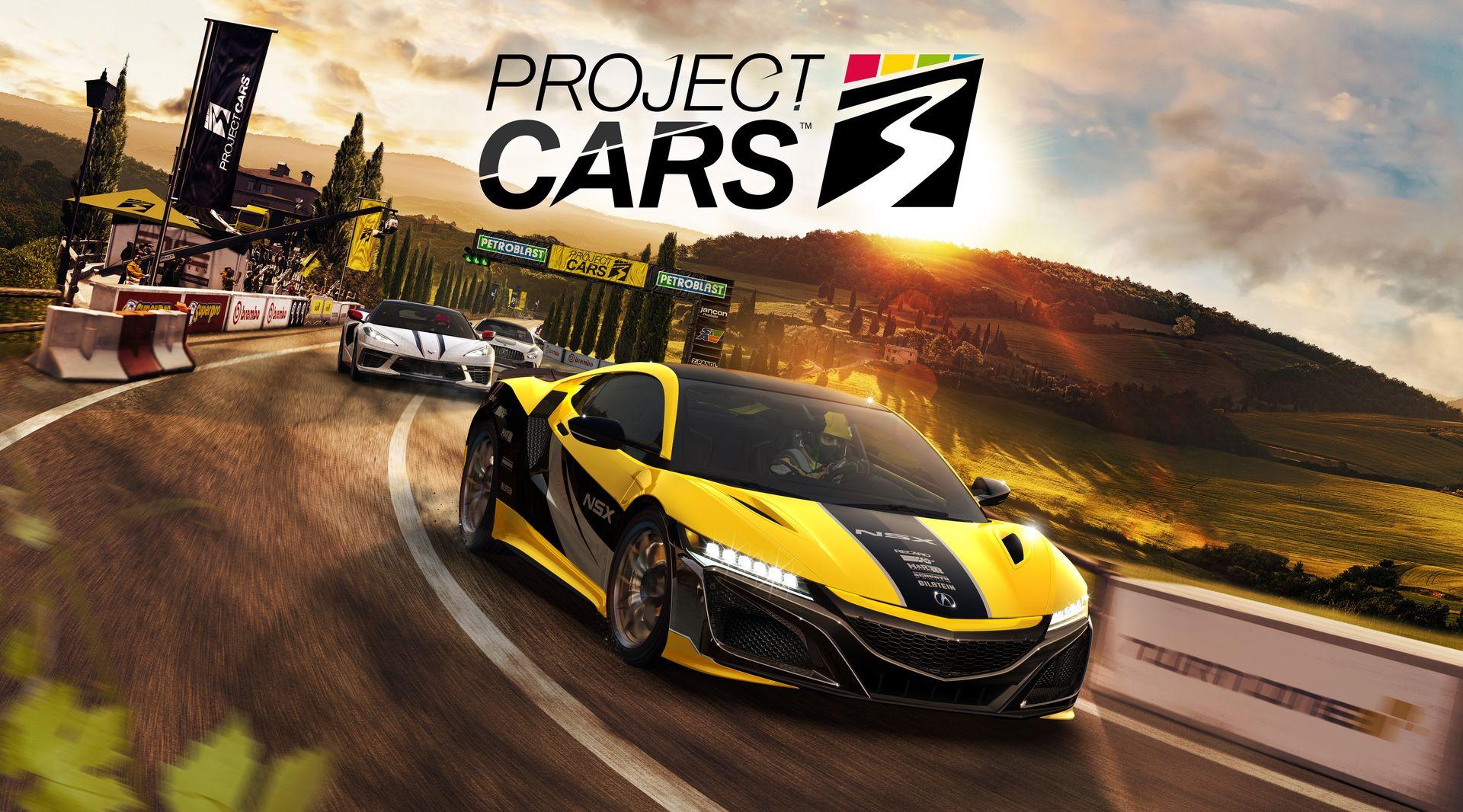 「Project CARS 3」タイトル画面