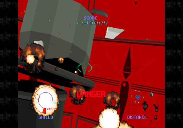 オブジェクトすべてをポリゴン描画しているタイトルは当時まだ少なく、大胆に動くカメラアングルや、巨大な敵などのビジュアルは宇宙空間の広さを感じさせてくれる。プレーヤーは自機を操縦せず、敵を攻撃するだけのガンナーの役割ながらも、敵の出現パターンを覚えるまではなかなか先に進めない骨太なタイトルだった